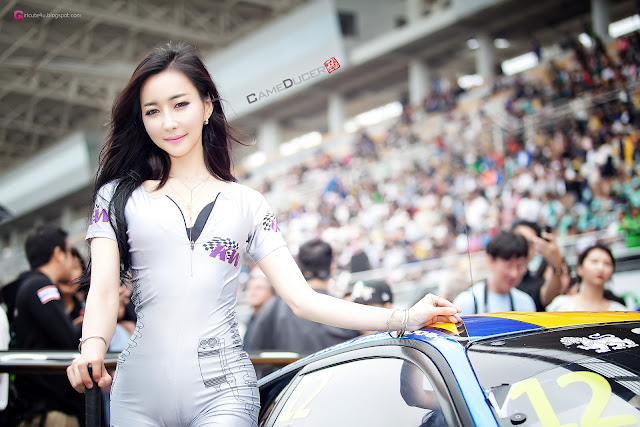 1 Jung Ji Hoo - Race Track - very cute asian girl-girlcute4u.blogspot.com