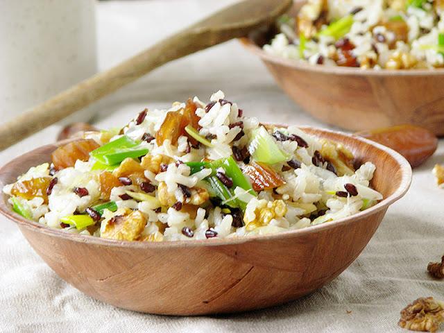 Salade chaude aux deux riz.