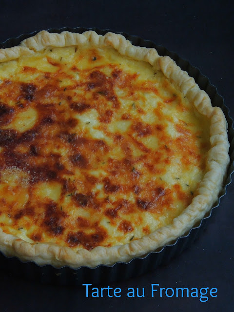 Tarte au fromage, French cheese tart