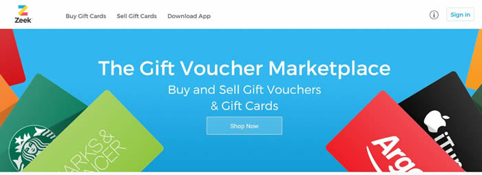 Buy and Sell Gift Vouchers & Gift Cards with Zeek