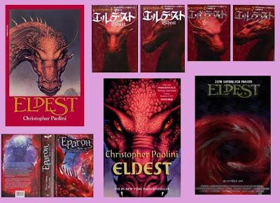 portadas del libro de fantasía juvenil Eldest, de Christopher Paolini
