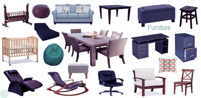 Furniture, Furniture Name, Furniture Vocabulary