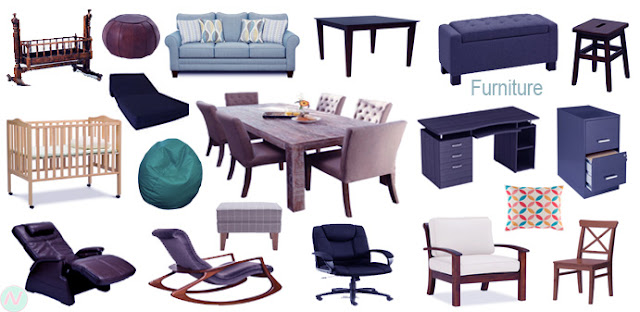 Furniture, furniture name, furniture vocabulary