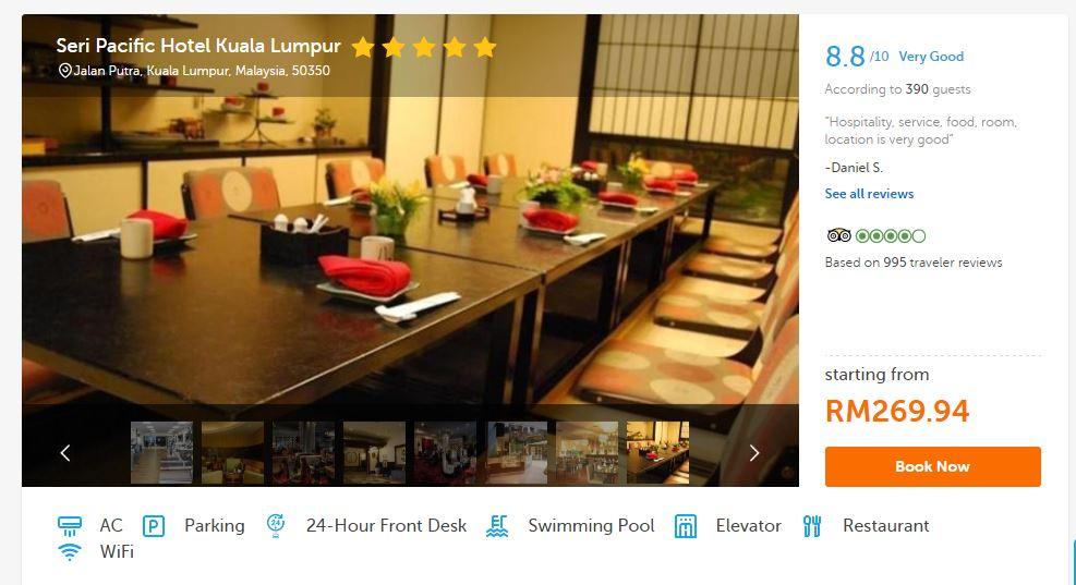 Welcome To My World Booking With Traveloka Seri Pacific Hotel Pesta Buku Antarabangsa 2017