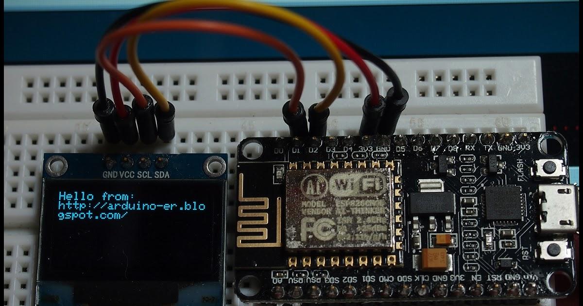 Arduino er hello world nodemcu esp i c