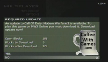 Coffee With Games Modern Warfare 3 Wii Patched Again Patch Size
