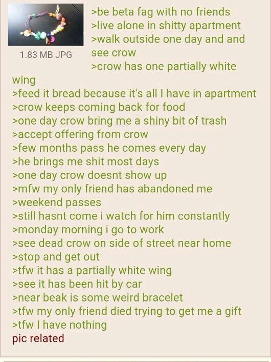 Feels crow Greentext