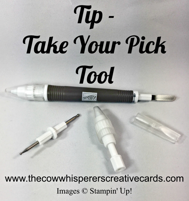 Tip, Take Your Pick Tool, Stampin'UP!, Craft