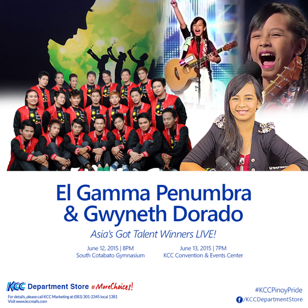 Asia's Got Talent Winners El Gamma Penumbra & Gwyneth Dorado Live in Koronadal