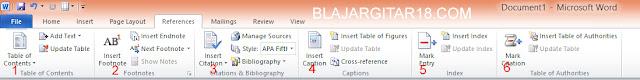 Fungsi Toolbar pada microsoft word