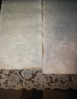 Hand-made lace and pattern from Burano