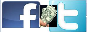 make money with facebook and twitter