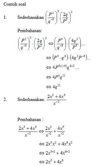 Pengertian Operasi Rumus Dan Sifat Sifat Bilangan Berpangkat Kumpulan Rumus Matematika
