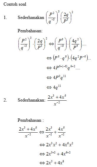 Operasi Perpangkatan : operasi, perpangkatan, Pengetahuan:, Matematika, (bilangan, Berpangkat)