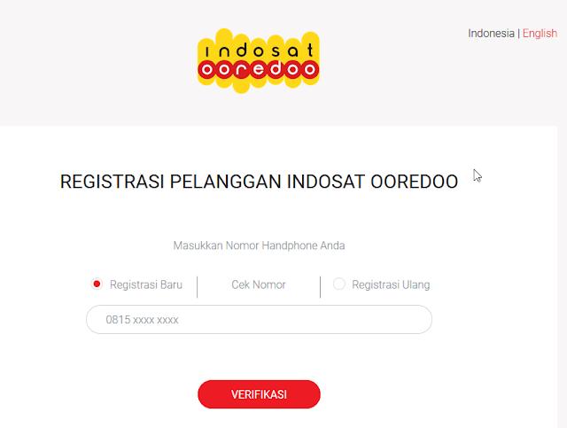 Registrasi Kartu Indosat Ooredoo