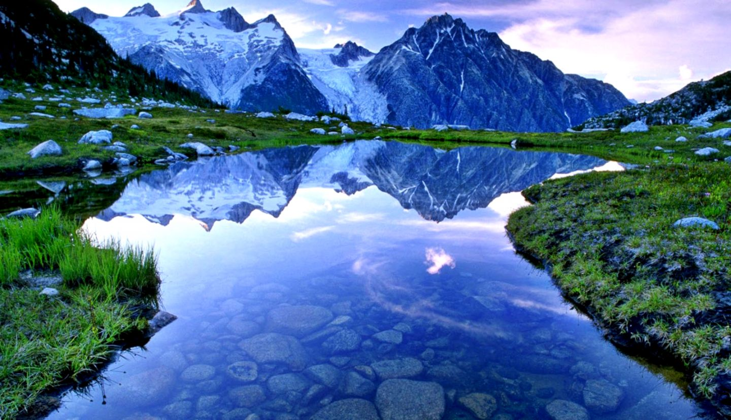 Beautiful Lake And Mountain Landscape Wallpapers HD Desktop and
