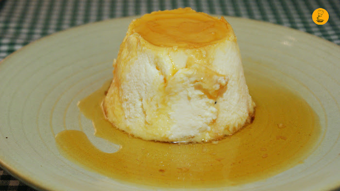 Flan de queso (6€) taberna Triana Madrid