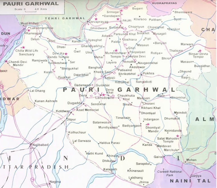 UttranchalGarhwal Map