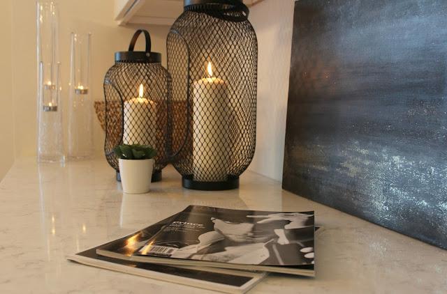 LG Viatera-quartz-Minuet-countertop-white-kitchen-black-abstract-painting-hello-lovely-studio