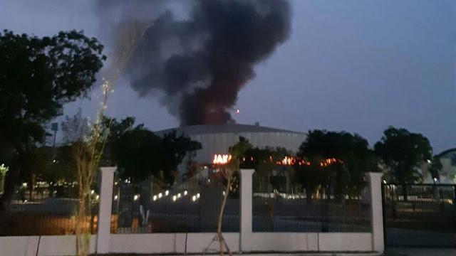 Breaking News! Terjadi Kebakaran di Komplek Velodrome Rawamangun Untuk Asian Games