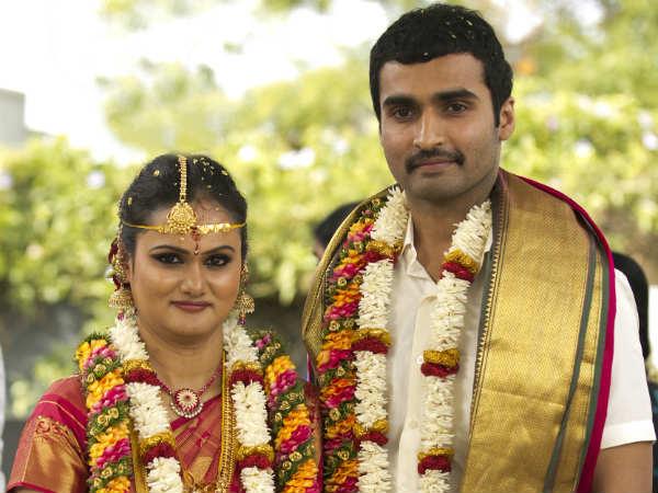 Actor Nandha And Vidyaroopa Marriage Stills