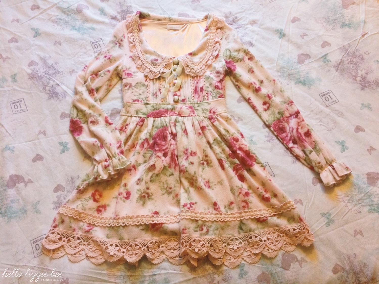 liz lisa winter florals dress