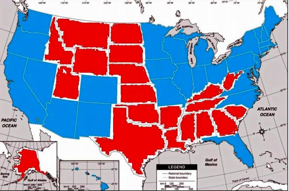 Rust Belt States Map.A Voice From The Rustbelt Projected Presidential Electoral Map 2012