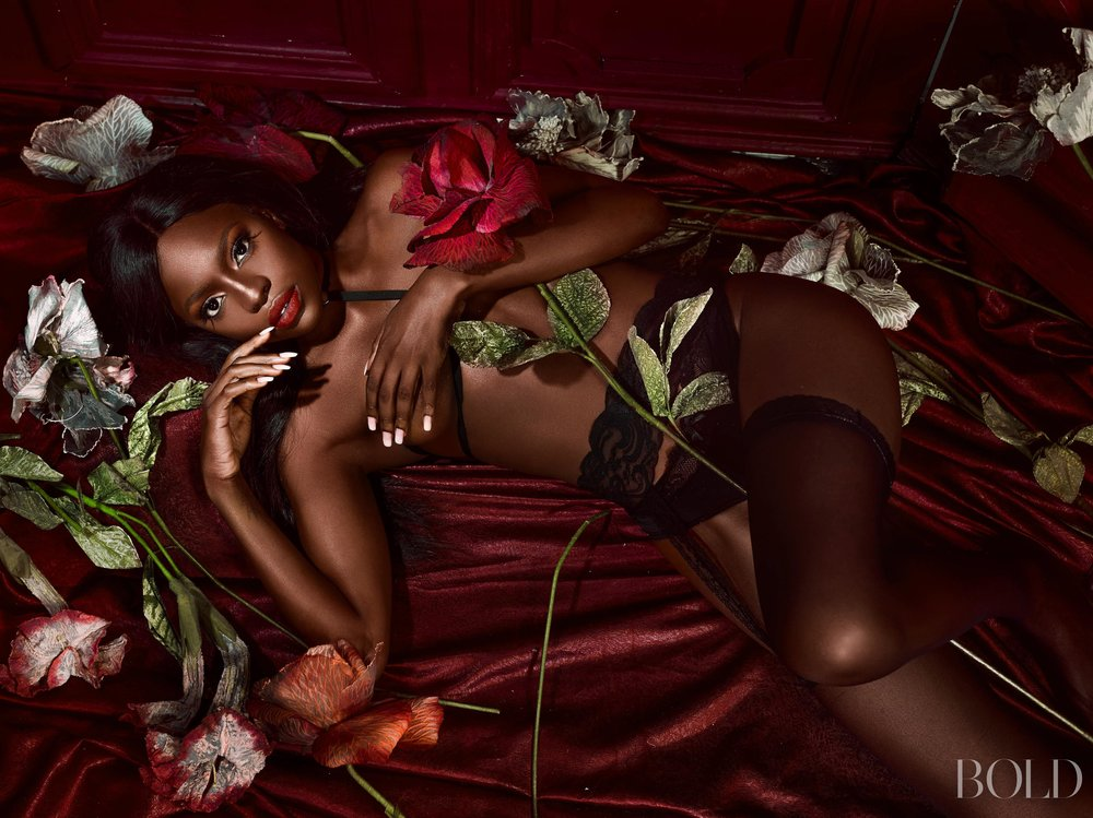Beverly Osu Poses In Sexy Lingerie For Bold Magazine Africa