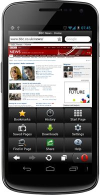 Browser Opera mini 7 per android