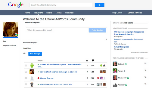 Get answers to your AdWords Express questions in the AdWords community
