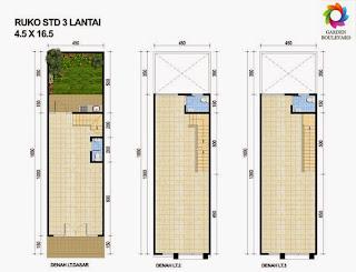desain ruko minimalis 3 lantai sebagai tempat usaha dan