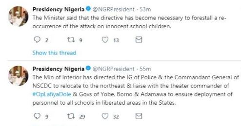 BREAKING News: IGP And NSCDC Boss Ordered To Relocate To North East
