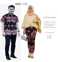 Batik Pasangan SBRG 133 Couple Gamis Kebaya Modern Mustard