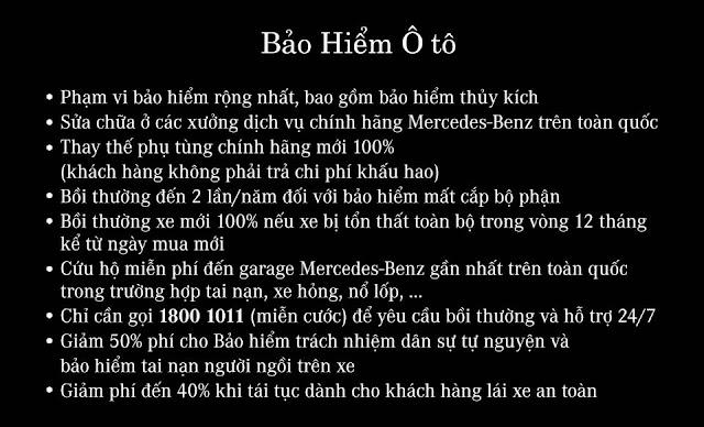 Bảo hiểm Mercedes Việt Nam có phạm vi bảo hiểm toàn diện nhất trên thị trường hiện nay