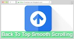 Back To Top Smooth Scrolling Pure Javascript
