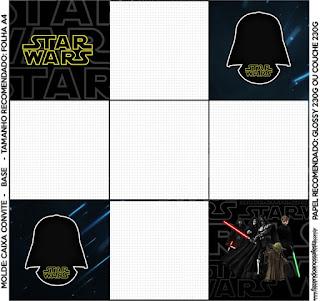 La parte de abajo de la caja de Star Wars.