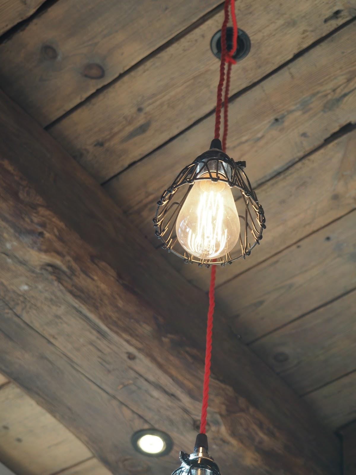 Light bulb, La Baraque interior in Val d'isere, France