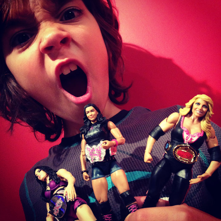 Fully Jointed Play Figures Wwe Womens Wrestling-7847