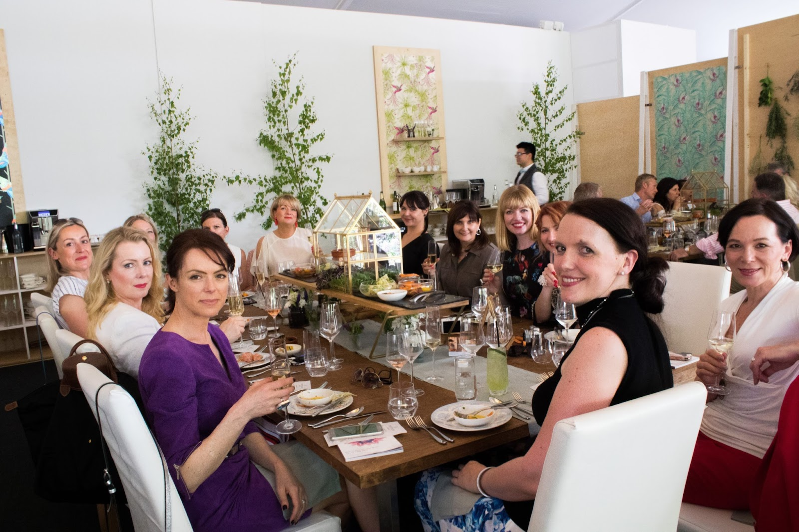 The Over 40 Collective with Madeleine Fashion Lunch at Jardin Blanc, Chelsea Flower Show 2017