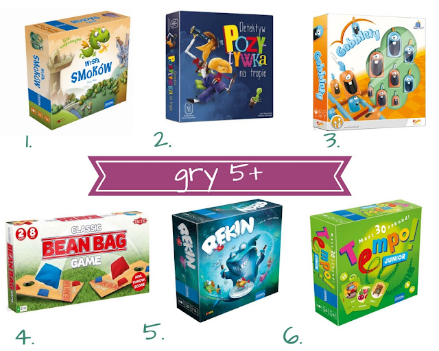 Najciekawsze gry dla 5-latka - planszówki na Dzień Dziecka (5+)