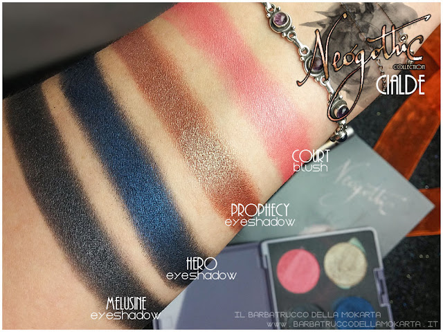 cialde neogothic collection neve cosmetics swatches hero prophecy melusine court