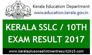 SSLC Result 2017 - Kerala pareekshabhavan 10th result