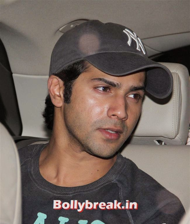 VArun Dhawan, Bollywood celebs Clicked in their Cars at 2 States Special Screening