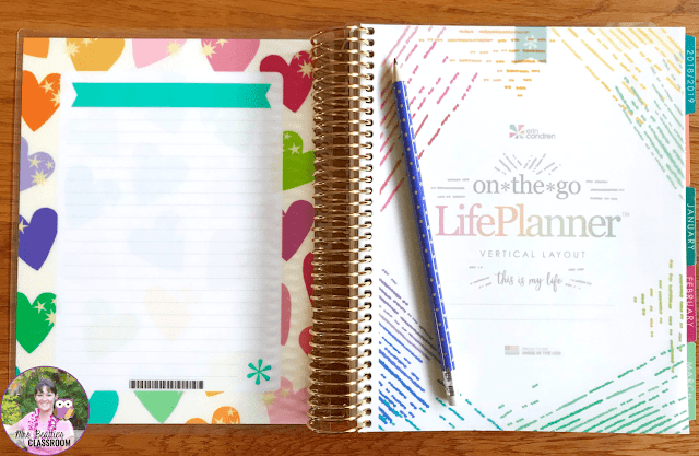 Inside pages of Erin Condren Life Planner
