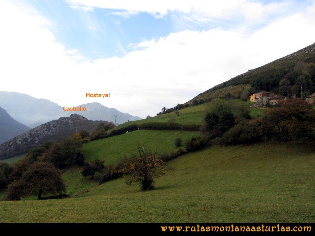 Ruta Baiña, Magarrón, Bustiello, Castiello. Camino del Castiello
