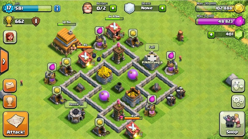 clash of clans shield