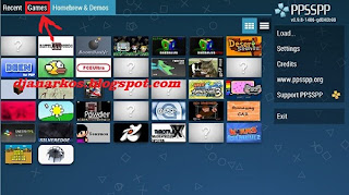 download dan install file iso di ppsspp