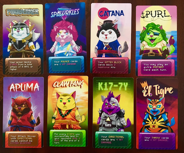 PopCats Fighter by The Ninjabot character cards Apuma K17-7Y