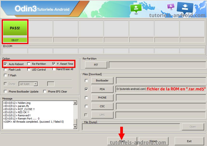 ODIN : installer firmware N9005