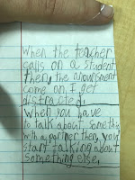 Students examples of self-talk they think might help them ignore distractions.